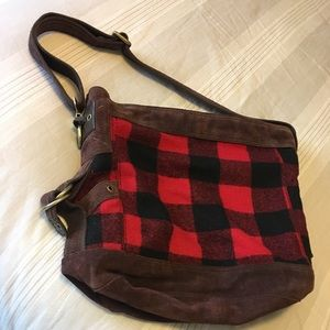Buffalo plaid lucky brand bag 🍀